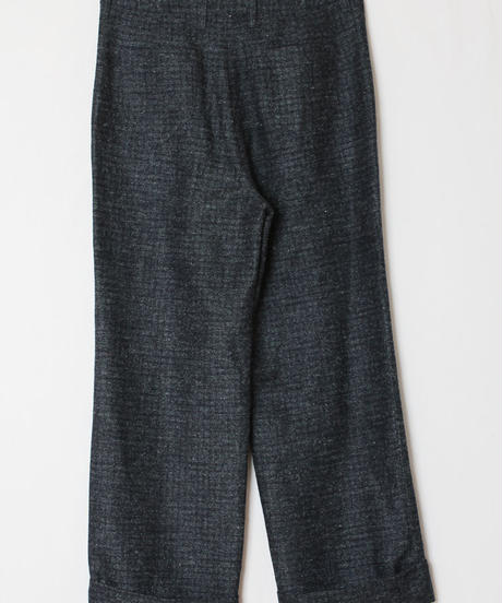 wool silk wide pants