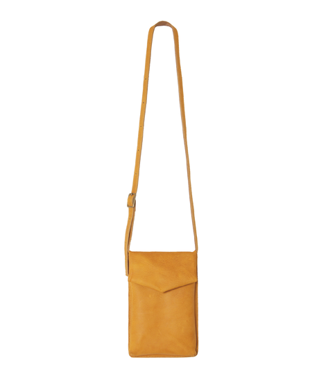 yellow slim letter bag
