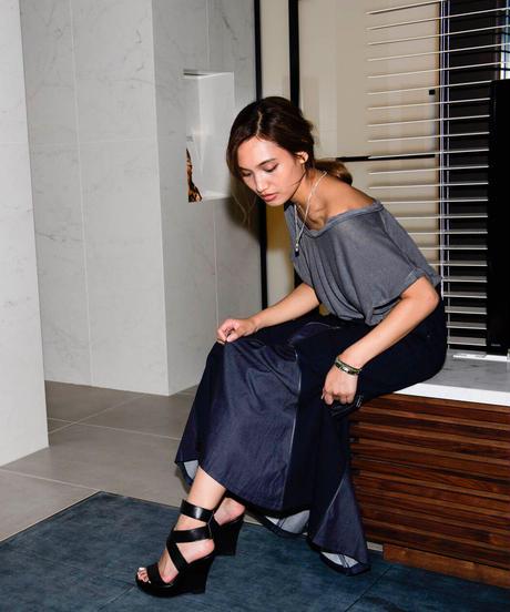 Premium Indigo 4sliders skirt