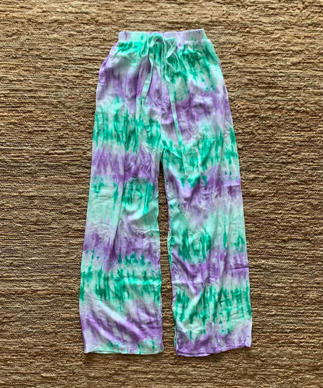 TT/Tie dye Candy Color Easy Pants