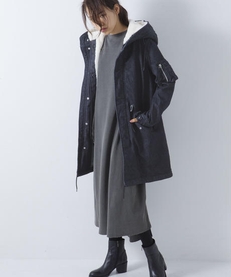 Denim Mods Coat [19L012]WOMAN