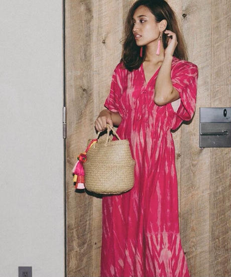 TT/Tie dye Butterfly Sleeve Summer Dress