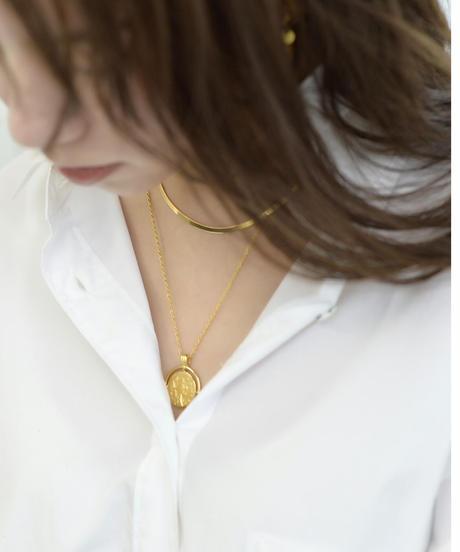 Greek Motif Coin Necklace