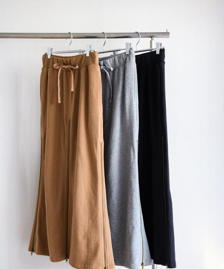 High Dence Sweat 4sliders Skirt(Camel/Gray/Black)
