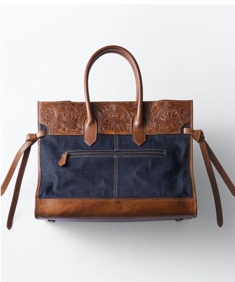 Carving&Denim Boston Bag [19Z002]