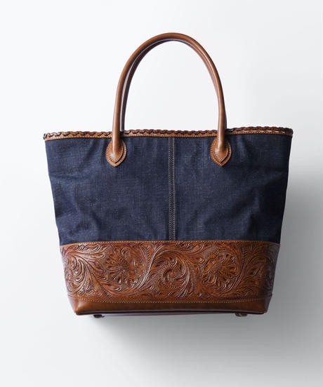 Carving&Denim Tote Bag [19Z006]