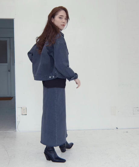 Trapeze Denim Skirt