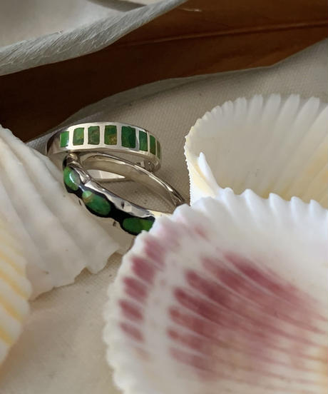 Silver925 Green Turqouise Ring(square)
