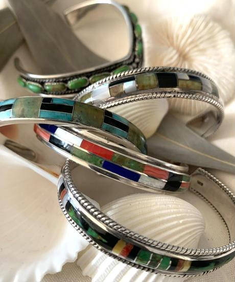Silver925 Mosaic Bangle(black&white)
