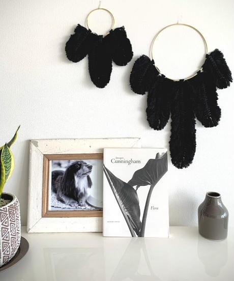 LA Lark Feathered Macrame Hanging(Small)