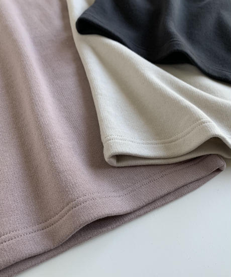 Uptown Sweat Slider Top(Oyster White/Mauve/Sumi Black)