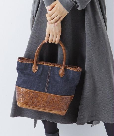 Carving&Denim Tote Bag  Mini  [19Z008]