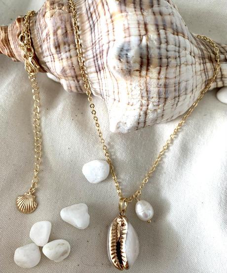 TT/Seashell&Water Pearl Pendant