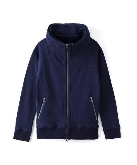 Premium Indigo Sweat Big Hood Jacket