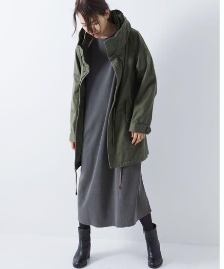 Nomad Big Hood Long Jacket [19L002]WOMAN