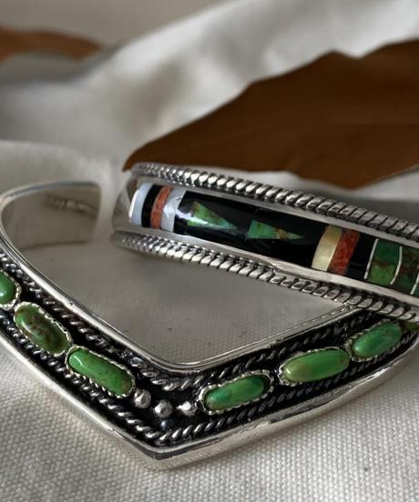 Silver925 Green Turquoise Princess Bangle