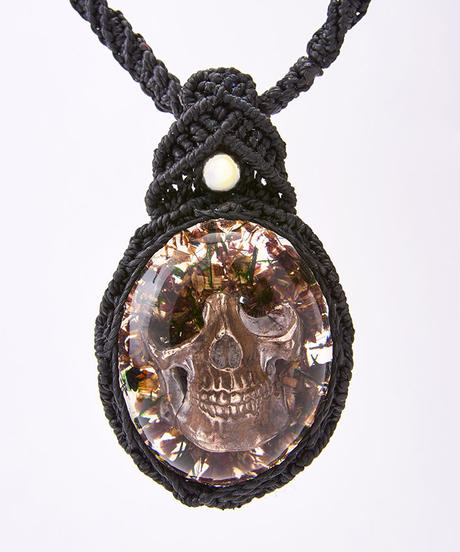 Hemp Flower Skull Necklace