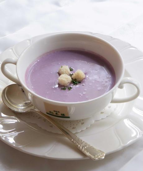 ※美味しく健やかに※ 紫芋のポタージュスープ(4個セット)  【冷凍食品】