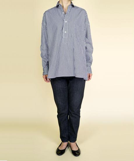 TICCA/ティッカ|スクエアビッグシャツプルオーバー ブラックギンガム|TAIA-046