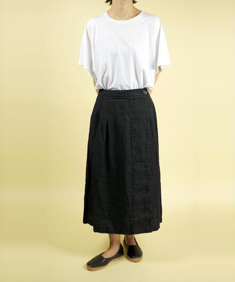 SARAHWEAR/サラウェア|リネンツイルラップスカート|C-21586