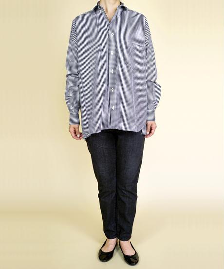 TICCA/ティッカ|スクエアビッグシャツ ブラックギンガム|TAIA-045
