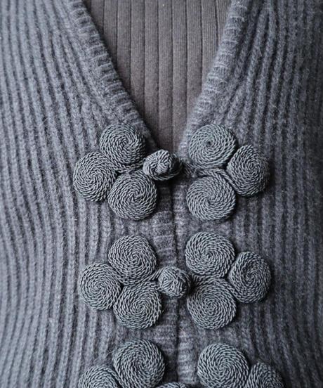 China Button Knit Cardigan BK