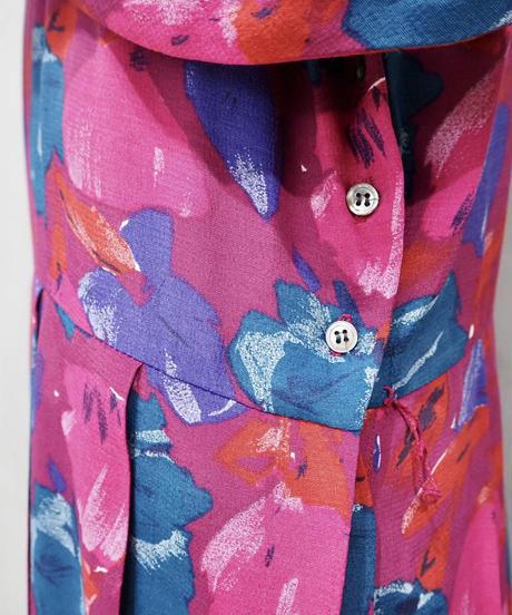Flower Pattern Pleated Dress PI