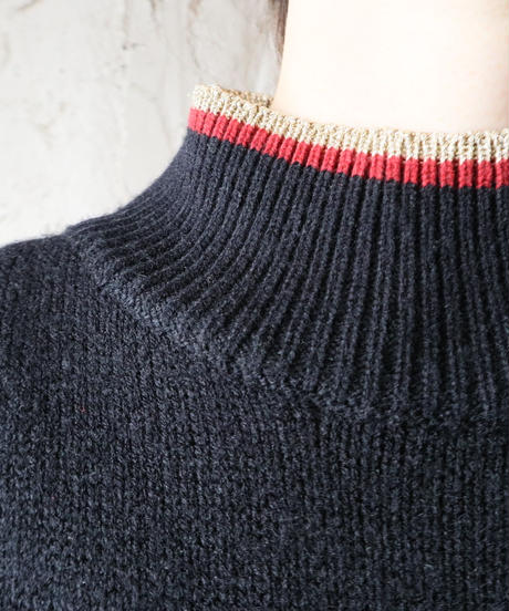 Tricolor Knit Dress BK