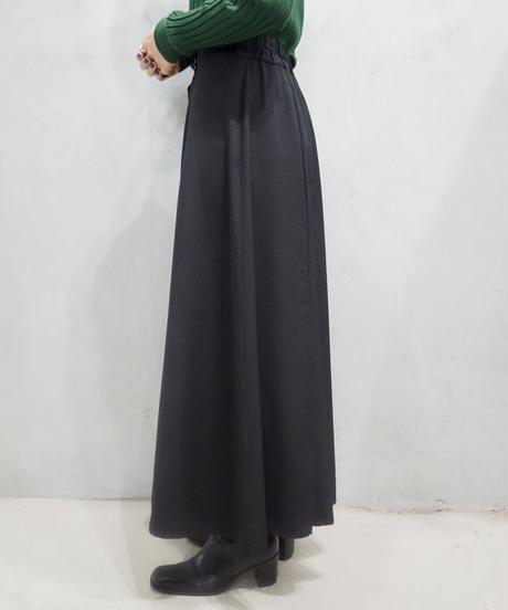 Front Button Flered Skirt BK