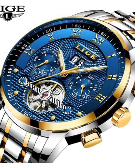 【全6色】 LIGEメンズ腕時計トップブランド高級自動腕時計メンズフルスチール腕時計男ファッションカジュアル防水時計リロイ