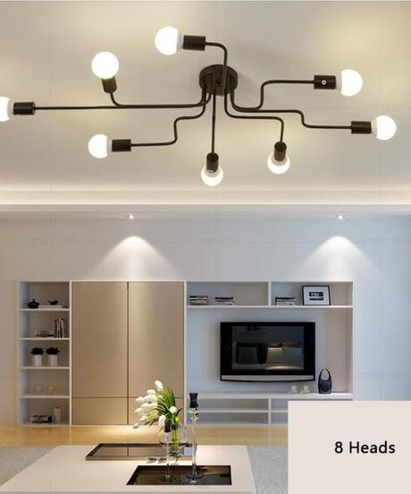 現代のled天井シャンデリア照明リビングルームの寝室のシャンデリア 8ヘッドタイプ