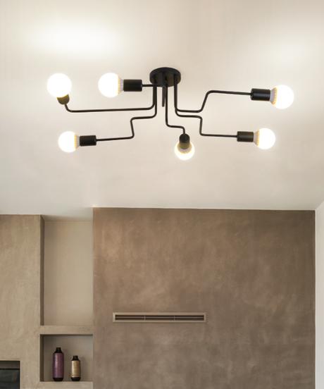 現代のled天井シャンデリア照明リビングルームの寝室のシャンデリア 6ヘッドタイプ