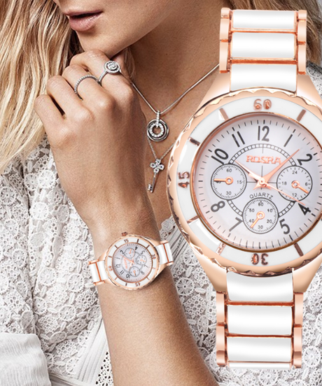 contena2018ファッション女性時計パーソナリティロマンチックローズゴールド腕時計ステンレス鋼レディース時計
