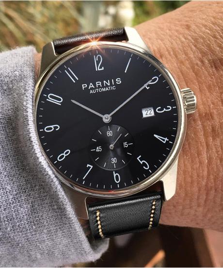 【全5色】 Parnis機械式腕時計水中ミニマリストウォッチメンズ腕時計