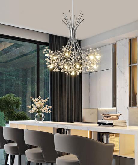 現代のled照明シャンデリア北欧レストランペンダントライト寝室の器具ダイニングルームクリスタルぶら下げライト
