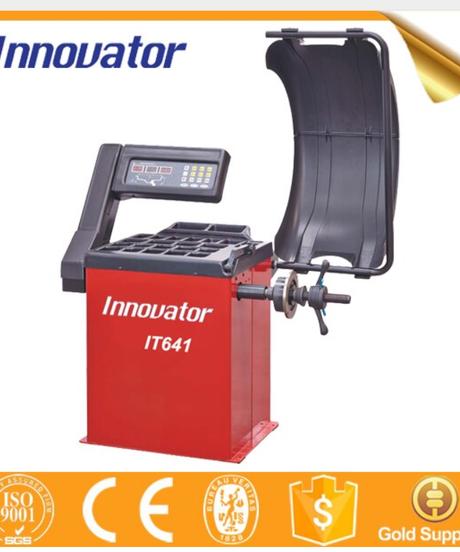 ホイールバランサー 100V ウエイト貼り付け自動照準機能付