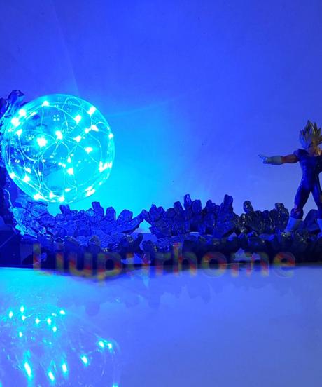 ドラゴンボールledテーブルランプベジータスーパーサイヤ人パワーアップled照明アニメドラゴンボールスーパー邪悪なベジータナイトライト
