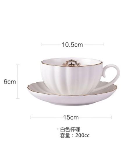 コーヒーカップ磁器食器セットヨーロピアンセラミックシンプルアフタヌーンティーセットギフトボックスアメリカンティーマグ 1カップ単品
