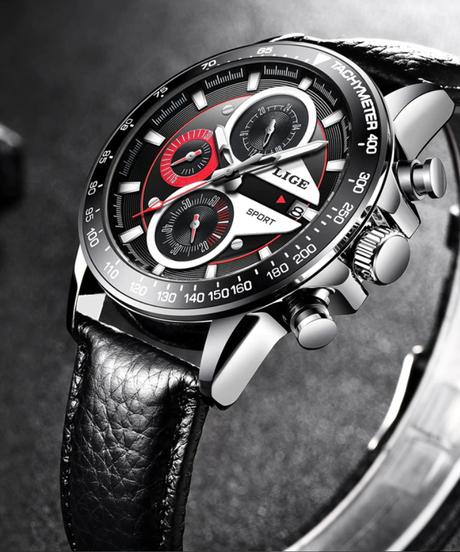 【全4色】 LIGEメンズ腕時計ファッションクォーツスポーツウォッチメンズウォッチビジネス時計