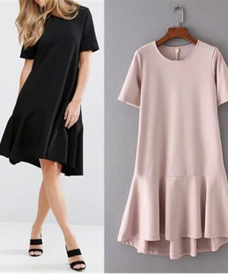 女性のドレスフィッシュテールの夏のドレス緩い半袖ドレスサラファン女性のドレスvestidos 7858