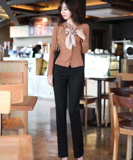 女性新しいスタイルの韓国人女性OLハイウエストオーバーオールフォーマル西洋スタイルのズボン 8485