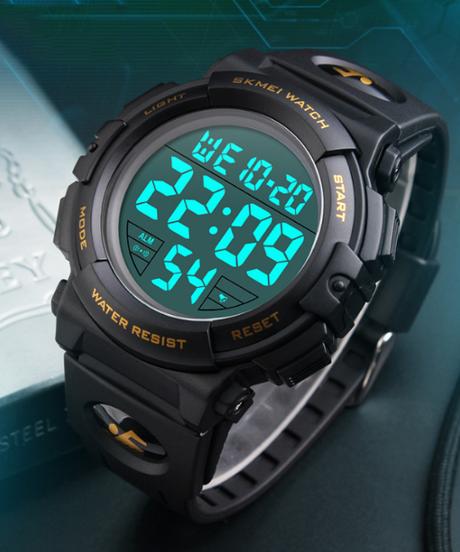 【全5色】 SKMEIクロノメンズ腕時計トップ高級ブランドスポーツウォッチ電子デジタル男性の腕時計クロックマン50メートル防水メンズ腕時計