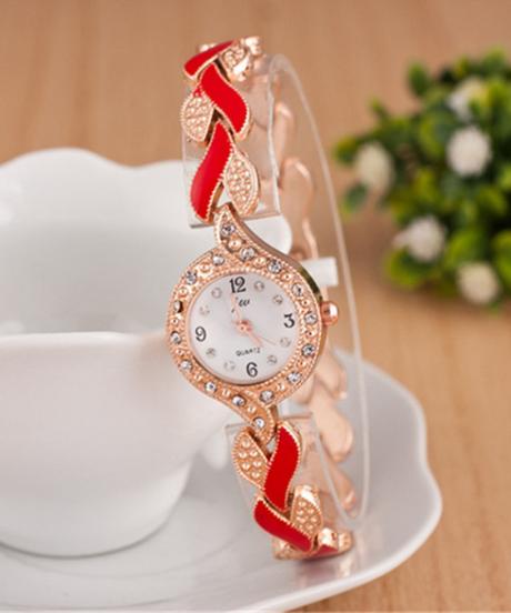jw ブレスレット時計高級クリスタルドレスクォーツ時計
