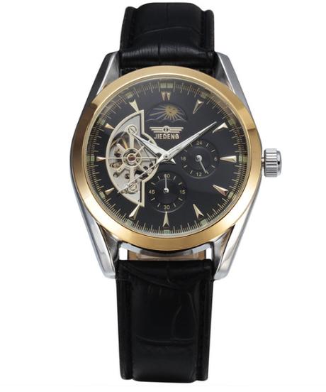 【全4色】 Seworトゥールビヨンメンズ腕時計トップブランド腕時計ビジネス腕時計機械式腕時計レザーバンドムーンフェイズ