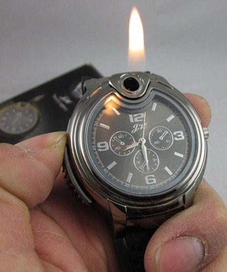 White cityファッションメンズクォーツ腕時計シガレットライタークリエイティブミリタリーウォッチ