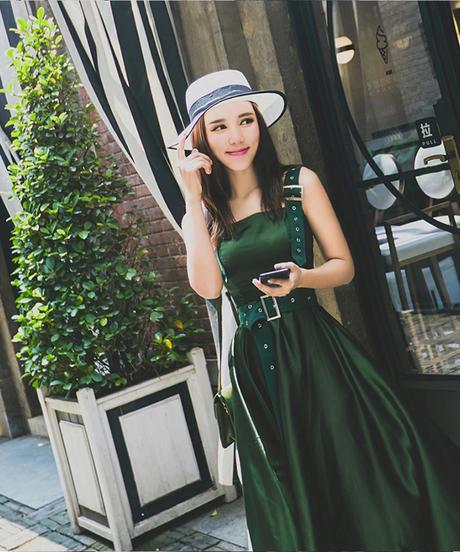 WHITNEY WANG 2018夏のファッションエレガントな調節可能なストラップサテンタンクドレス女性魅力的なロングドレスマキシドレス 2910