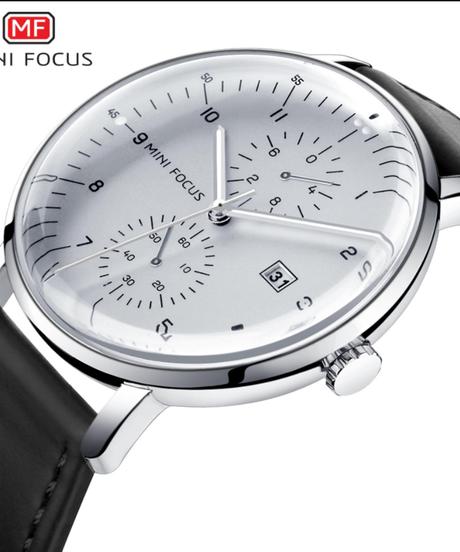 【全3色】 MINIFOCUSメンズ腕時計トップブランドの高級クォーツ時計メンズカレンダー