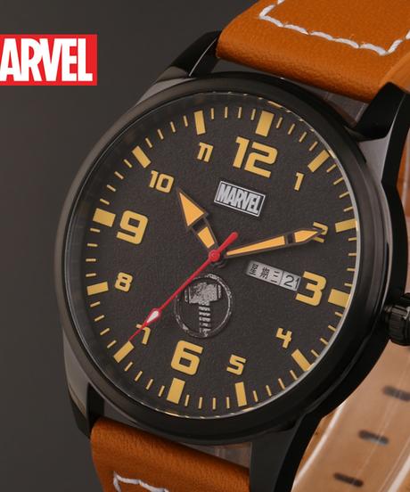 ディズニー公式 マーベルシリーズ腕時計 海外限定版 アベンジャーズマイティーソークォーツ防水時計