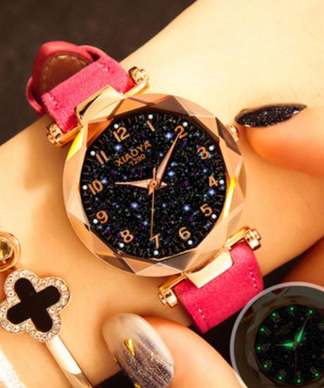 【全9色】 XIAOYAファッション女性腕時計2019ベストセラースタースカイダイヤル時計