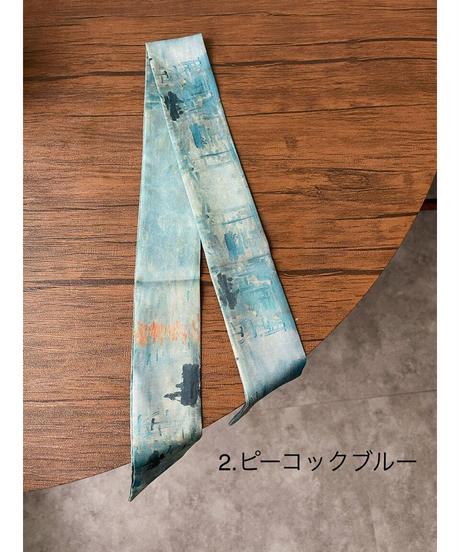 3 colour 絵画スカーフ2ver